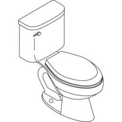 Kohler K-3556 Toilet Parts